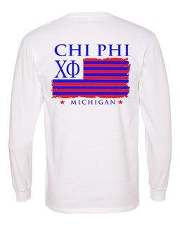 Chi Phi Stripes Long Sleeve T-shirt