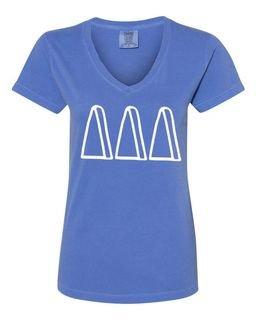Delta Delta Delta Comfort Colors V-Neck T-Shirt