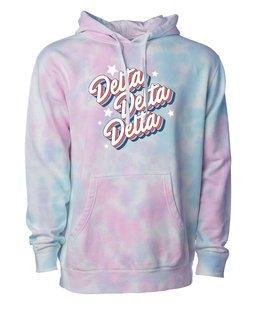 Delta Delta Delta Cotton Candy Tie-Dyed Hoodie