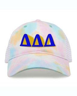 Delta Delta Delta Sorority Sorbet Tie Dyed Twill Hat