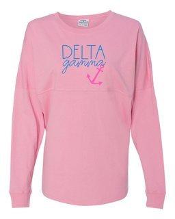 Delta Gamma Anchor Script J. America - Game Day Jersey T-Shirt