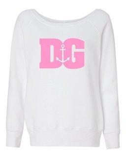 Delta Gamma Billboard Fleece Wideneck Sweatshirt