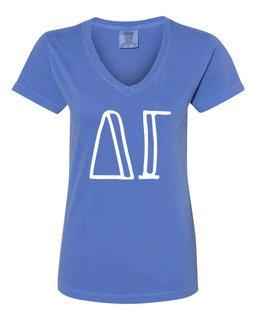 Delta Gamma Comfort Colors V-Neck T-Shirt