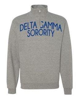 Delta Gamma Over Zipper Quarter Zipper Sweatshirt