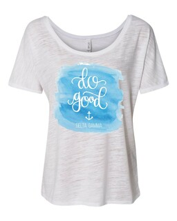 Delta Gamma Do Good Watercolor Slouchy T-Shirt