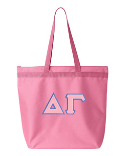 DISCOUNT-Delta Gamma Lettered Game Day Tote