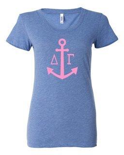 Delta Gamma Simple Anchor Triblend Short SleeveT-Shirt