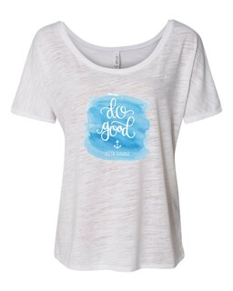 Delta Gamma Slouchy Watercolor Motto T-shirt