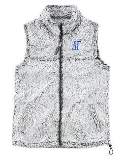 Delta Gamma Smoky Grey Sherpa Vest