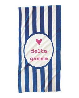 Delta Gamma Striped Beach Towel