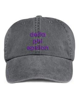 Delta Phi Epsilon Stonewashed Cotton Hats