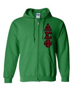 "Delta Sigma Phi Heavy Full-Zip Hooded Sweatshirt - 3"" Letters!"