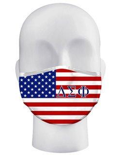 Delta Sigma Phi USA Flag Face Masks