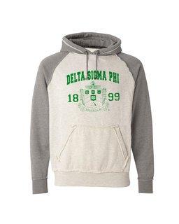 Delta Sigma Phi Vintage Heather Hooded Sweatshirt