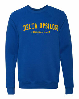 Delta Upsilon Fraternity Founders Crew Sweatshirt