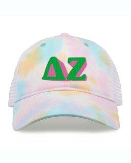 Delta Zeta Sorority Sorbet Tie Dyed Twill Hat