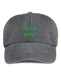 Delta Zeta Stonewashed Cotton Hats