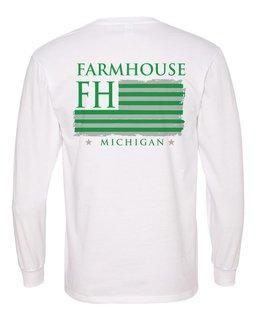 FarmHouse Fraternity Stripes Long Sleeve T-shirt