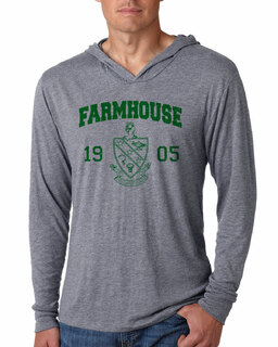 FarmHouse Fraternity Unisex Triblend Long-Sleeve Hoodie