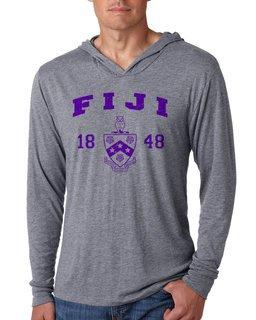 FIJI Fraternity Unisex Triblend Long-Sleeve Hoodie