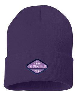 DISCOUNT-FIJI Fraternity Woven Emblem Knit Cap