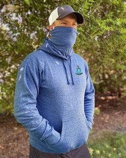 Fraternity Crest Gaiter Fleece Hooded Sweatshirt