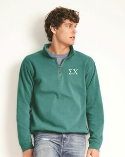Fraternity & Sorority Comfort Colors Garment-Dyed Quarter Zip Sweatshirt