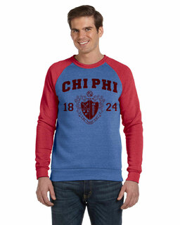 Fraternity Triblend Colorblocked Champ Fashion Crew Sweatshirt