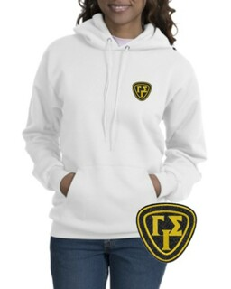DISCOUNT-Gamma Iota Sigma Crest - Shield Emblem Hooded Sweatshirt