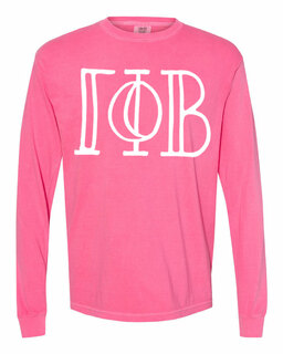 Gamma Phi Beta Comfort Colors Greek Long Sleeve T-Shirt