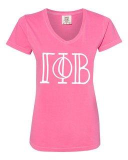 Gamma Phi Beta Comfort Colors V-Neck T-Shirt