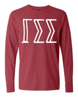 Gamma Sigma Sigma Comfort Colors Greek Long Sleeve T-Shirt