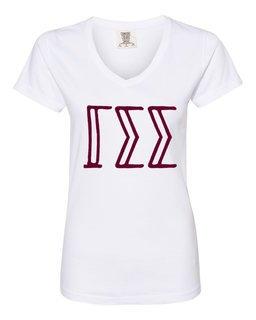 Gamma Sigma Sigma Comfort Colors V-Neck T-Shirt