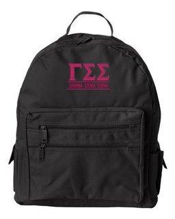 Gamma Sigma Sigma Custom Text Backpack
