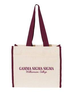 Gamma Sigma Sigma Tote with Contrast-Color Handles