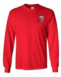 DISCOUNT-Kappa Alpha Psi Fraternity Crest - Shield Longsleeve Tee