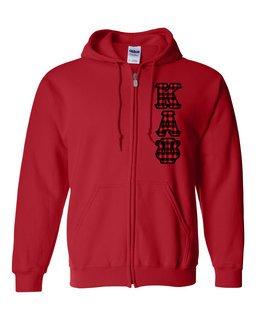 "Kappa Alpha Psi Heavy Full-Zip Hooded Sweatshirt - 3"" Letters!"