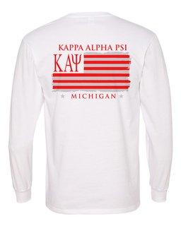 Kappa Alpha Psi Stripes Long Sleeve T-shirt