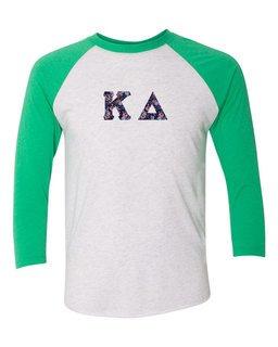 Kappa Delta Unisex Tri-Blend Three-Quarter Sleeve Baseball Raglan Tee
