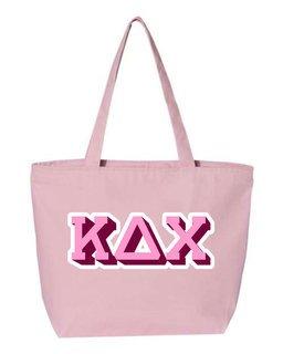 Kappa Delta Chi 3D Letter Tote Bag