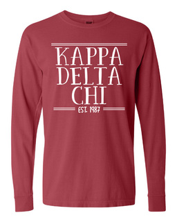 Kappa Delta Chi Comfort Colors Custom Long Sleeve T-Shirt