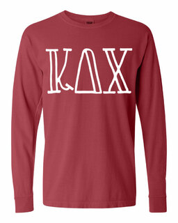 Kappa Delta Chi Comfort Colors Greek Long Sleeve T-Shirt
