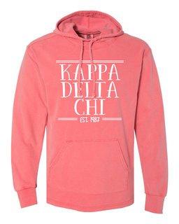 Kappa Delta Chi Comfort Colors Terry Scuba Neck Custom Hooded Pullover