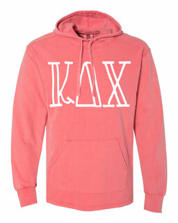 Kappa Delta Chi Comfort Colors - Terry Scuba Neck Greek Hooded Pullover