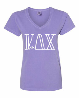 Kappa Delta Chi Comfort Colors V-Neck T-Shirt