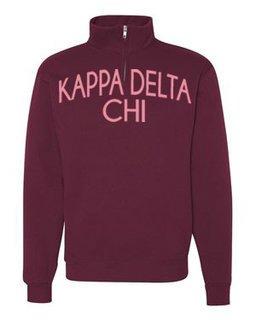 Kappa Delta Chi Over Zipper Quarter Zipper Sweatshirt