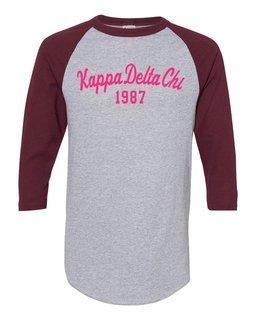 Kappa Delta Chi Script Established Raglan