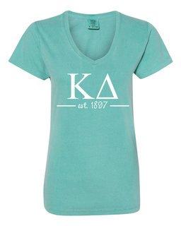 Kappa Delta Comfort Colors Custom V-Neck T-Shirt