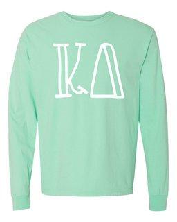 Kappa Delta Comfort Colors Greek Long Sleeve T-Shirt