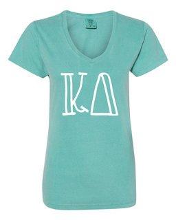 Kappa Delta Comfort Colors V-Neck T-Shirt